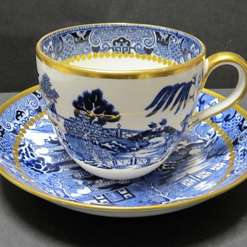 Davenport Breakfast Cup and Saucer- Two Temples Pattern 3588 - China and Dinnerware