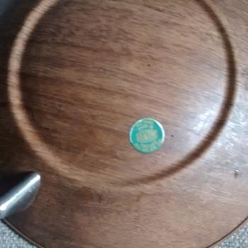 "Ianthe ""Sputnik"" fake wood bowl aluminim construction 1960's retro era make - Kitchen"