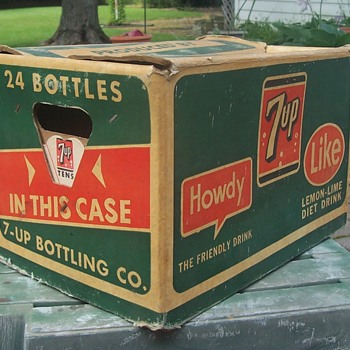 7up Cardboard carry case! - Advertising