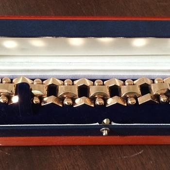 Art Deco Tank Track Bracelet - Fine Jewelry
