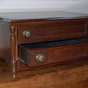 wooden spool check - 2 drawers - Furniture