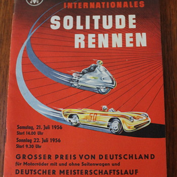 1956 motorcycle race program for Solitude Rennen, and some family history - Motorcycles