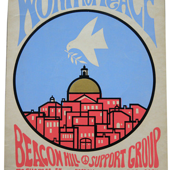 1970 Work For Peace Beacon Hill Support Group Poster, Kennedy Studios - Politics