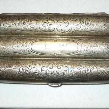 antique sterling silver cigar holder - Silver