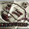 """Sherman Siam """"February"""" Necklace, Bracelet, Brooch, Earring Set"""
