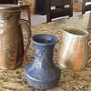 Beautiful Thrown Pottery Pitcher Pot and Vase