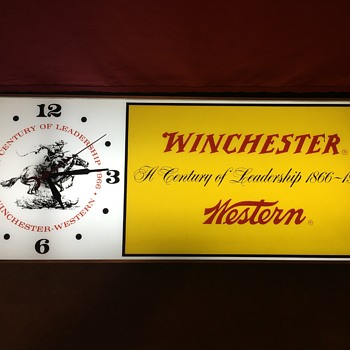 Winchester Western 1966 Lighted Clock - Clocks