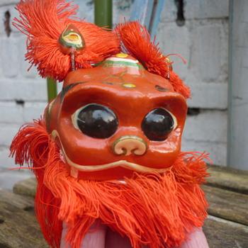 old puppet ,lion dancer or Foo /Fu dog?? - Asian