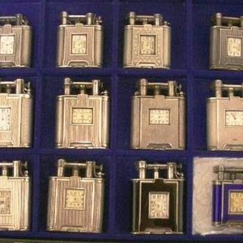 silver clock lighters - Tobacciana