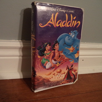 VHS tape black diamond classic Aladdin
