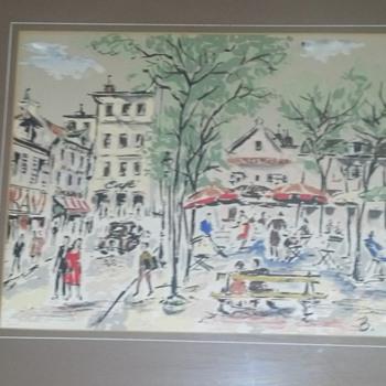 Oil on Silk? Vintage Painting - Fine Art