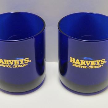 Cobalt Blue Advertising Glasses - Libbeys?