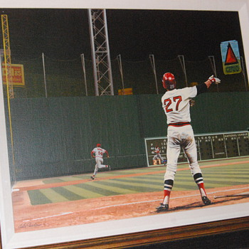 Bill Purdom Oil Painting of Carlton Fisk - Baseball