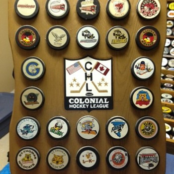 Colonial Hockey League puck board - Hockey