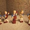 Older Vintage Porcelain 5 Piece Band Set Figurines