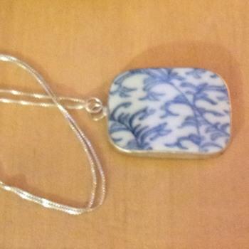 Blue and White Porcelain Pendant