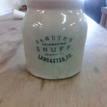 My Demuths Tobacco Snuff Jar, Lancaster, PA - Tobacciana