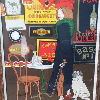 1970s advertising serigraph by unknown artist