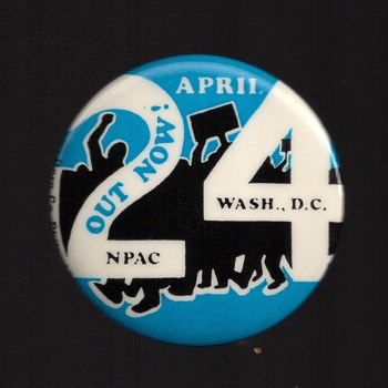 OUT NOW April 24 NPAC Vietnam pinback button