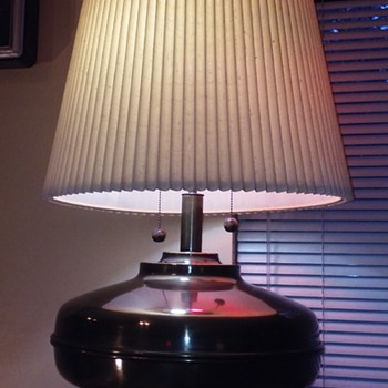 absolutely GINORMOUS brass 1970's (?) table lamp - Lamps