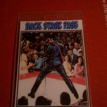Elvis Presley back stage pass