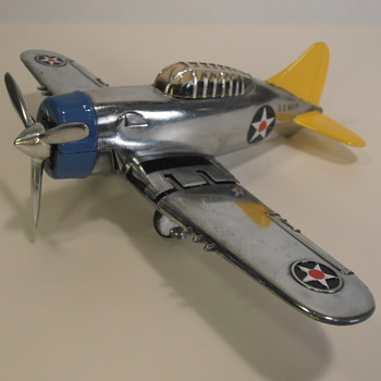 Hubley 467 Navy Fighter Overhauled as a Brewster F2A Buffalo - Toys