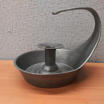 Italian Pewter Candle Holder - Kitchen