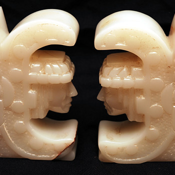 Mesoamerican (I think) Book Ends - Books