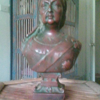 "My late Mother queen victoria bust 1837-1897 6 1/2"" high approx 2.5kilos appears to be Bronze - Fine Art"