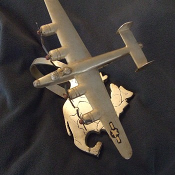 WW2 Trench art airplane - Folk Art