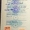 East German and other passport stamps