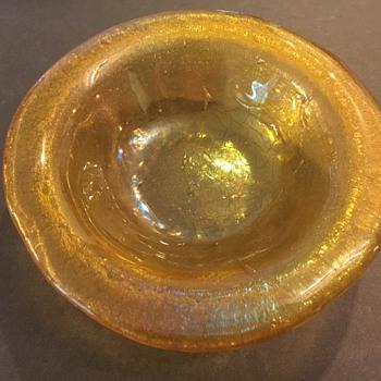 Iridescent Glass Dish - Art Glass