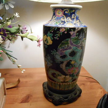Asian lamp & vase. - Lamps