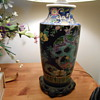 Asian lamp & vase.