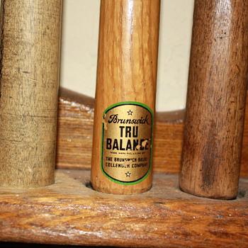 Vintage Original Pool Sticks and Rack