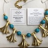 "Lenox  ""Golden Gingko"" necklace, gold plated, turquoise colored beads"