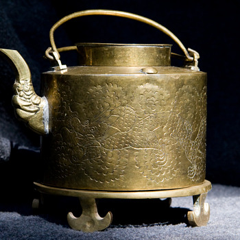 Asian Brass Teapot - Asian