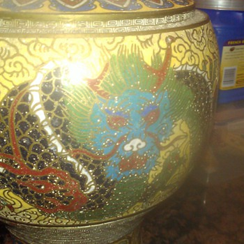 Cloisonne Vase with Dragon