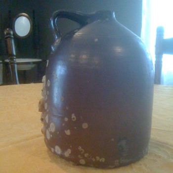 Antique Clay Gallon Jug - China and Dinnerware