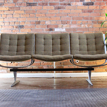 Mid-Century Modern Sofa & Chairs (with no label or markings) - Mid-Century Modern