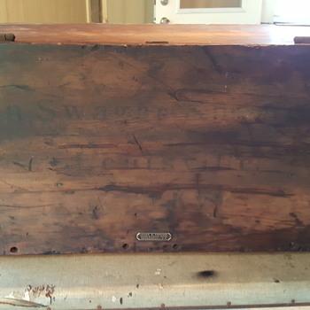 James S.Topham Flat Top Trunk - Furniture