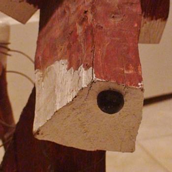 """""""Woody"""" The Weird Wooden Dog - Folk Art"""