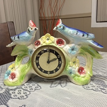 Jema Holland Medium Double Wood Bird Clock numbered (440)