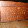 Antique Tiger Oak Jewett Humidor...With Key