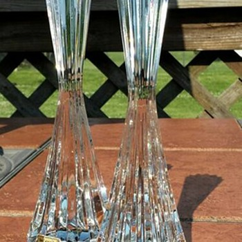 Crystal Candlestick Holders - Lamps