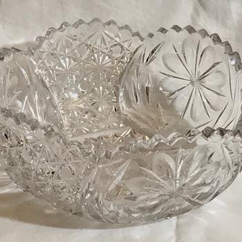 American Brilliant Period Crystal Bowl
