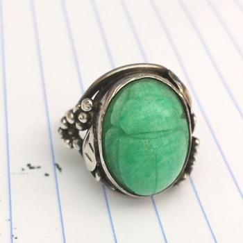 Egyptian revival scarab ring - I think! - Fine Jewelry