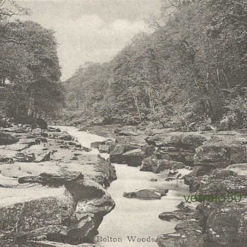 "'THE STRID ON THE WHARFE""  - BOLTON WOODS"