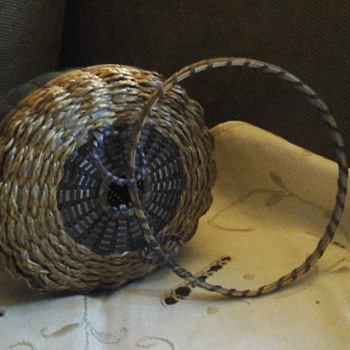 Maine Penobscot Acorn Basket, 1920 - Native American