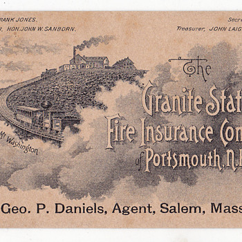 Granite State Insurance Company , Frank Jones beer? - Advertising